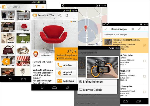 kleinanzeigen to go mobile app von anzeigenschaltung und schn ppchen f r un. Black Bedroom Furniture Sets. Home Design Ideas