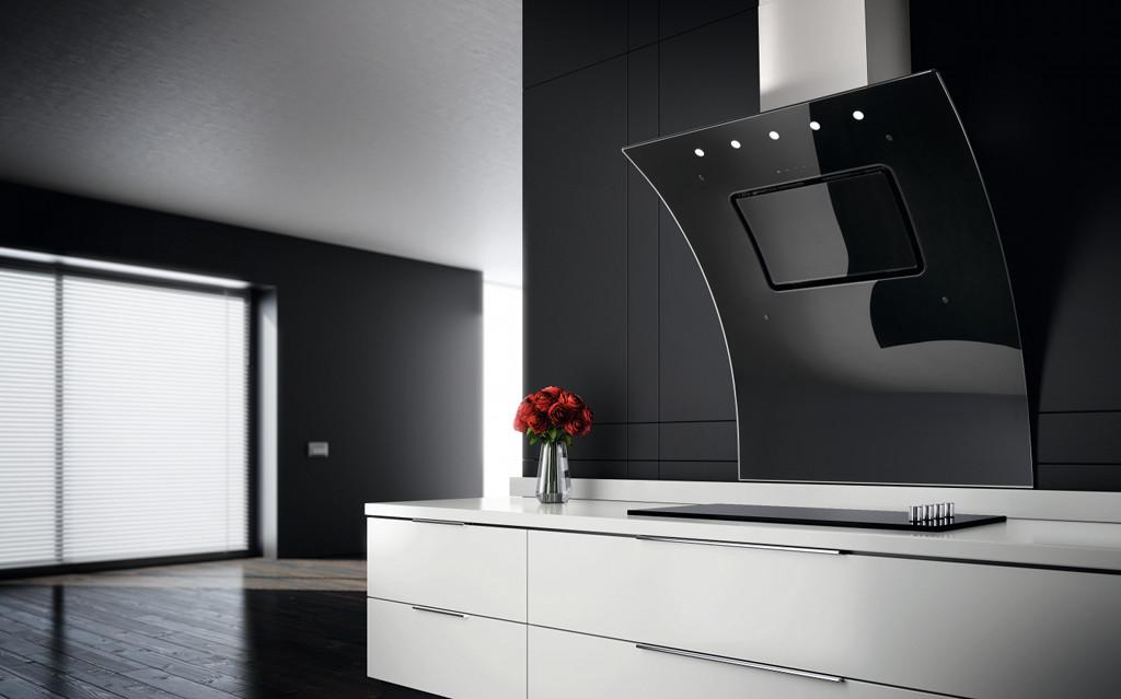 die opera dunstabzugshaube von refsta bringt schwung in moderne einbauk chen. Black Bedroom Furniture Sets. Home Design Ideas