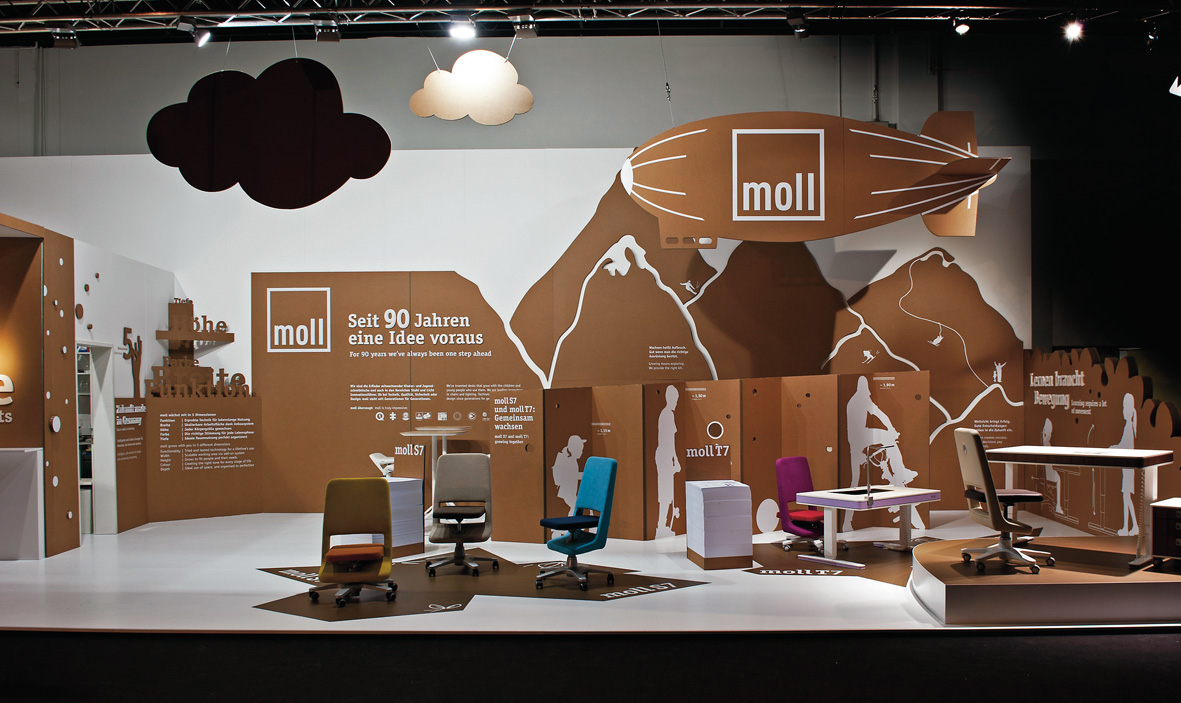 Verführerisch Coole Schreibtische Dekoration Von Moll Messestand Auf Der Internationalen Möbelmesse In