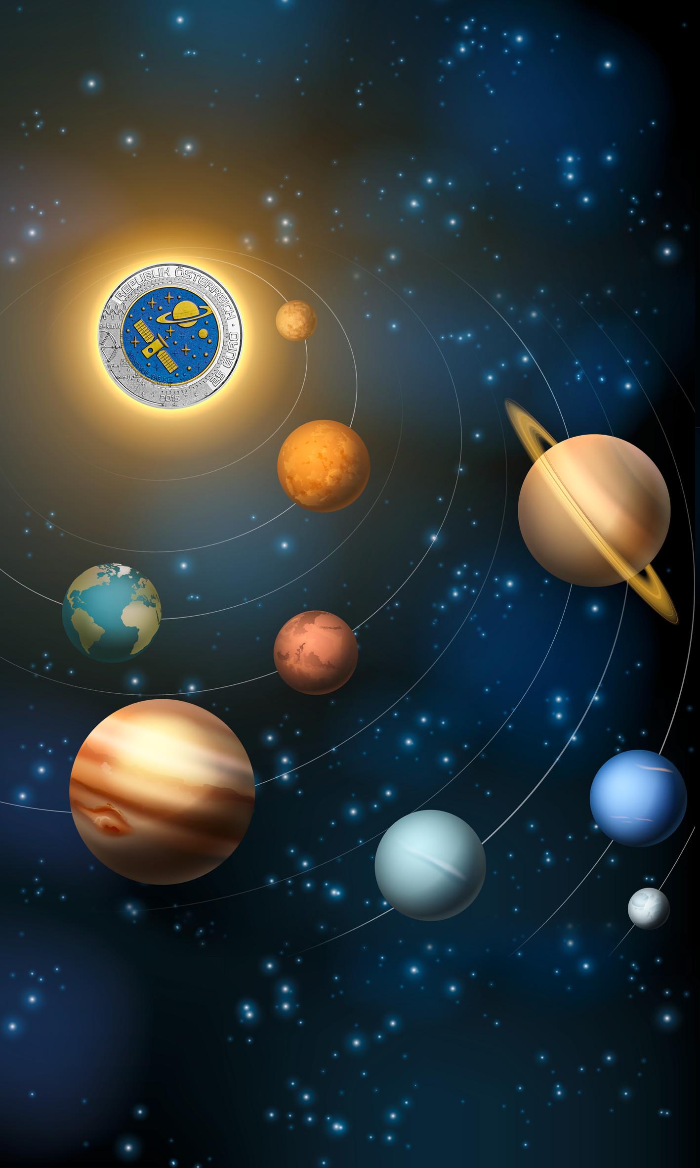Münze österreich Präsentiert Kosmologie Die Niob Münze 2015