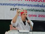 Dirk Weeber-Arayatumsopon (medical Podologist) at the Press conference about Foot health in Thailand