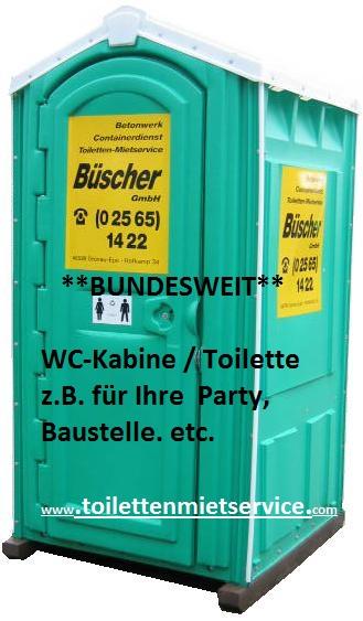Toilettenvermietung Büscher ®
