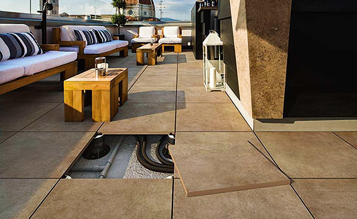 terrassenplatten der blickfang im garten und auf dem. Black Bedroom Furniture Sets. Home Design Ideas