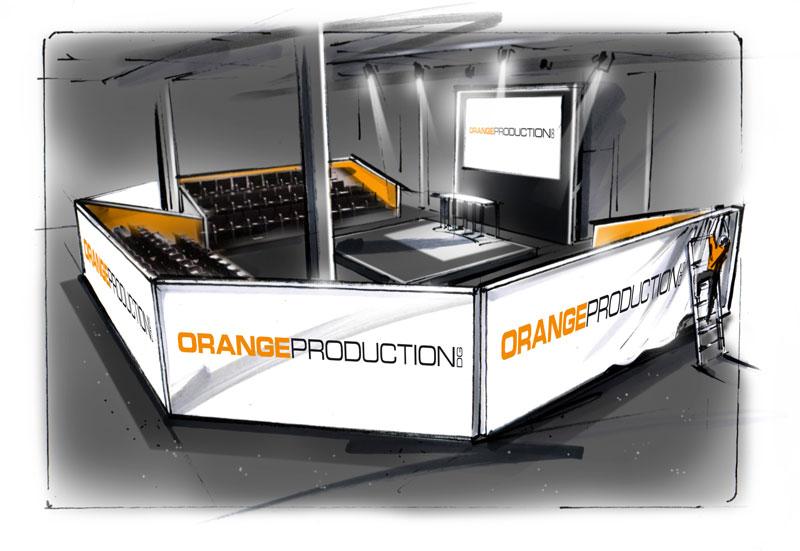 ORANGE PRODUCTION DG realisiert Tribünen aus SpeedWall Elementen