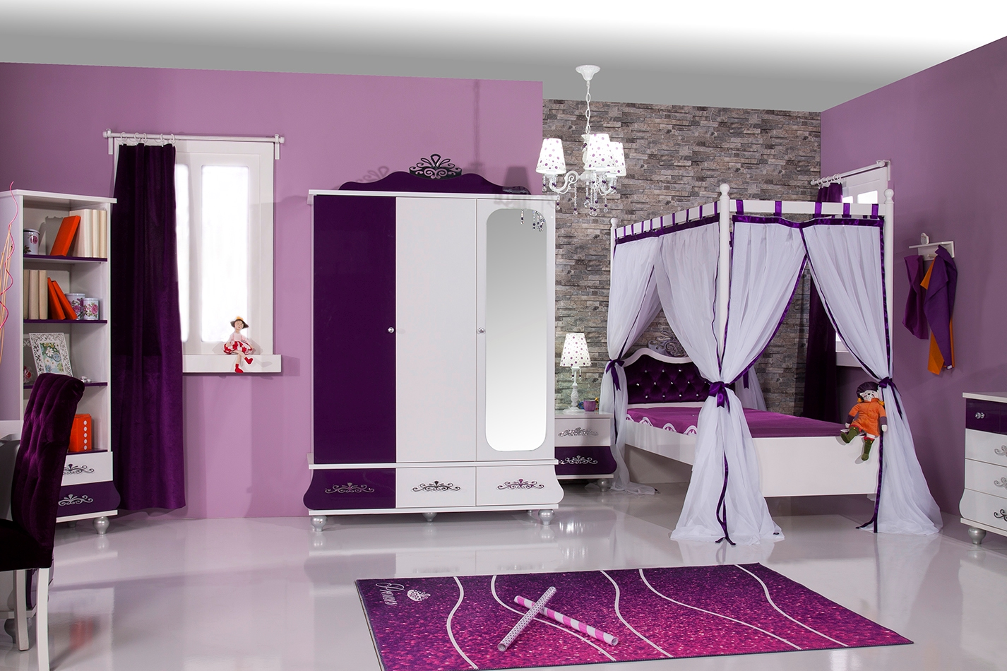 Brilliant Möbel Für Kinder Foto Von Kinderzimmer Anastasia Lila, Ein Mädchenzimmer Traum Für