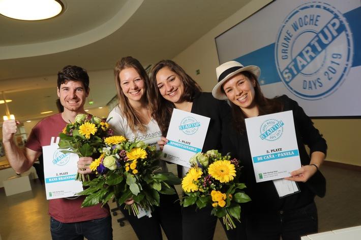 Die Jury hat entschieden: Essbare Löffel, Brainfood und Naturzucker sind die Sieger der Startup-Days der Grünen Woche 2019 (FOTO)