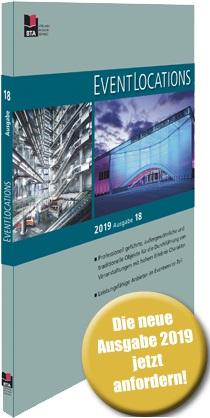 Jetzt kostenfrei bestellen: das neue Handbuch EVENTLOCATIONS 2019