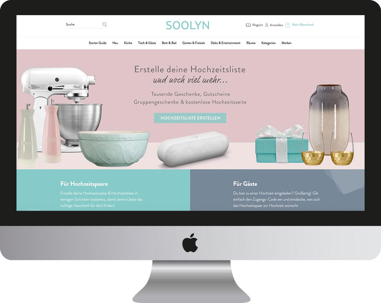 Hochzeitstage 2020: Start-up SOOLYN präsentiert Online-Geschenkeshop mit kostenlosen Planungstools