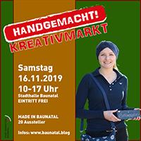 HANDGEMACHT! Individuelle Weihnachtsgeschenke beim 2. Kreativmarkt Baunatal