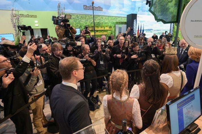 Grüne Woche 2020: Eröffnungsfeier am 16. Januar im CityCube Berlin / Eröffnungsrundgang beginnt am 17. Januar beim Partnerland Kroatien in Halle 10.2 (FOTO)