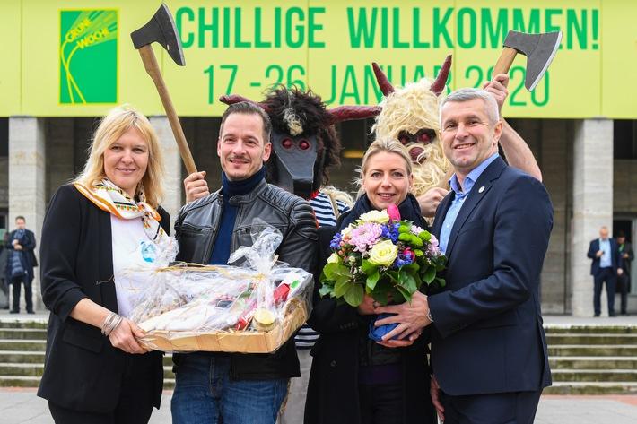 Katharina Schulze ist die 100.000. Besucherin der Grünen Woche (FOTO)