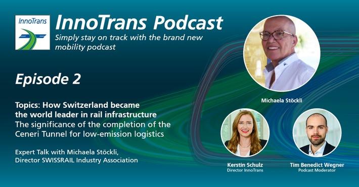 SWISSRAIL präsentiert zukunftsveränderndes Rekordprojekt im InnoTrans Podcast (FOTO)