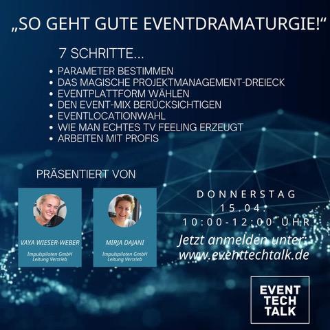 EVENT TECH TALK: Kurzweiliges Hands-On-Wissen im Dialog mit erfahrenen Branchenprofis