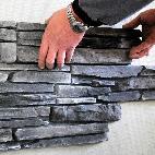 haus bauen fassadenverkleidung steinoptik. Black Bedroom Furniture Sets. Home Design Ideas