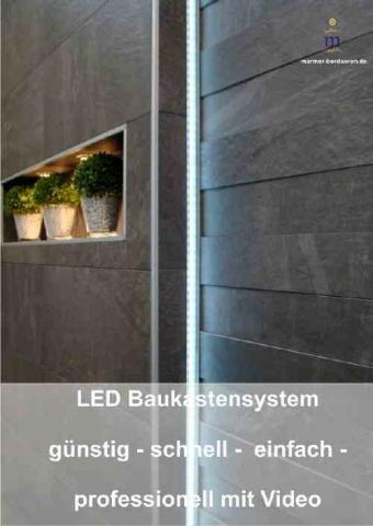 led lichtleisten zum einfliesen f r jeden fliesenbelag. Black Bedroom Furniture Sets. Home Design Ideas
