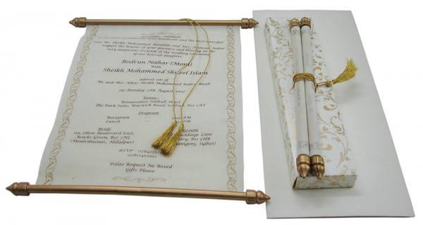 Hier zu sehen ist die Schriftrolle Medina - erhältlich über RoyalDay ...