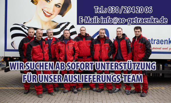 Fahrer gesucht! Getränkelieferservice Berlin A&O Getränke sucht ...